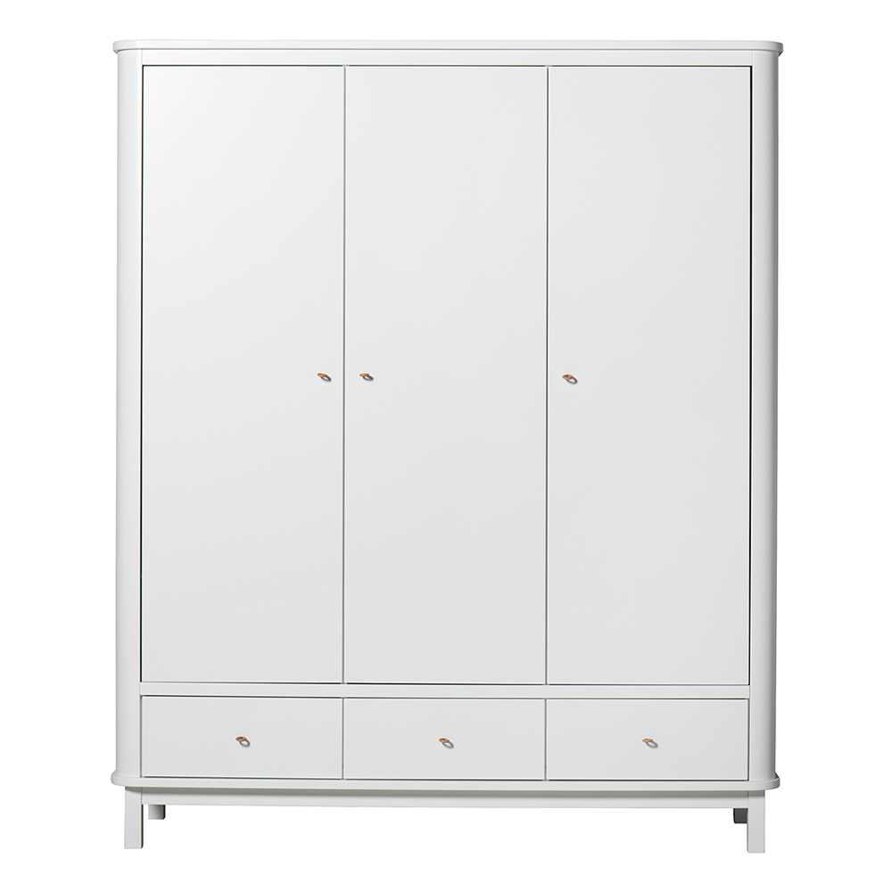 armoire 3 portes wood blanc oliver furniture pour. Black Bedroom Furniture Sets. Home Design Ideas