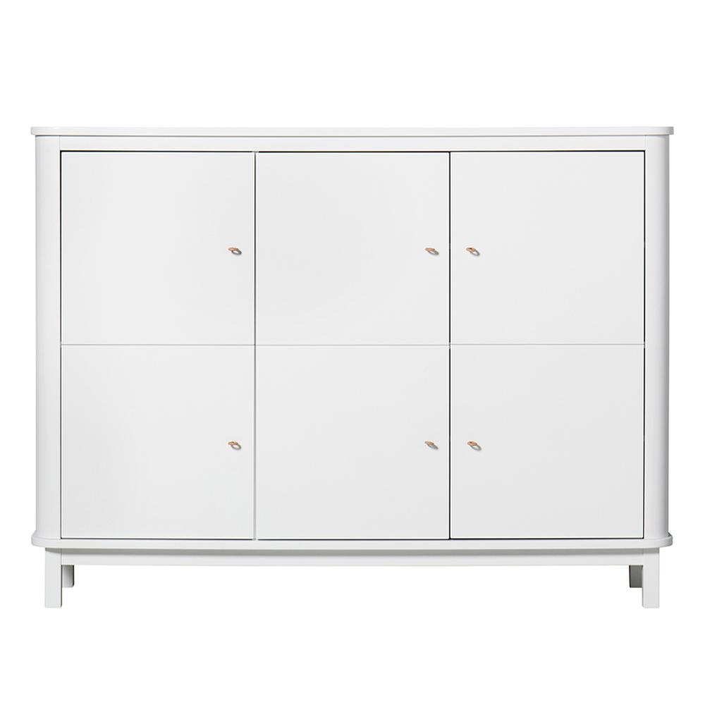 armoire multi rangement wood blanc oliver furniture pour. Black Bedroom Furniture Sets. Home Design Ideas