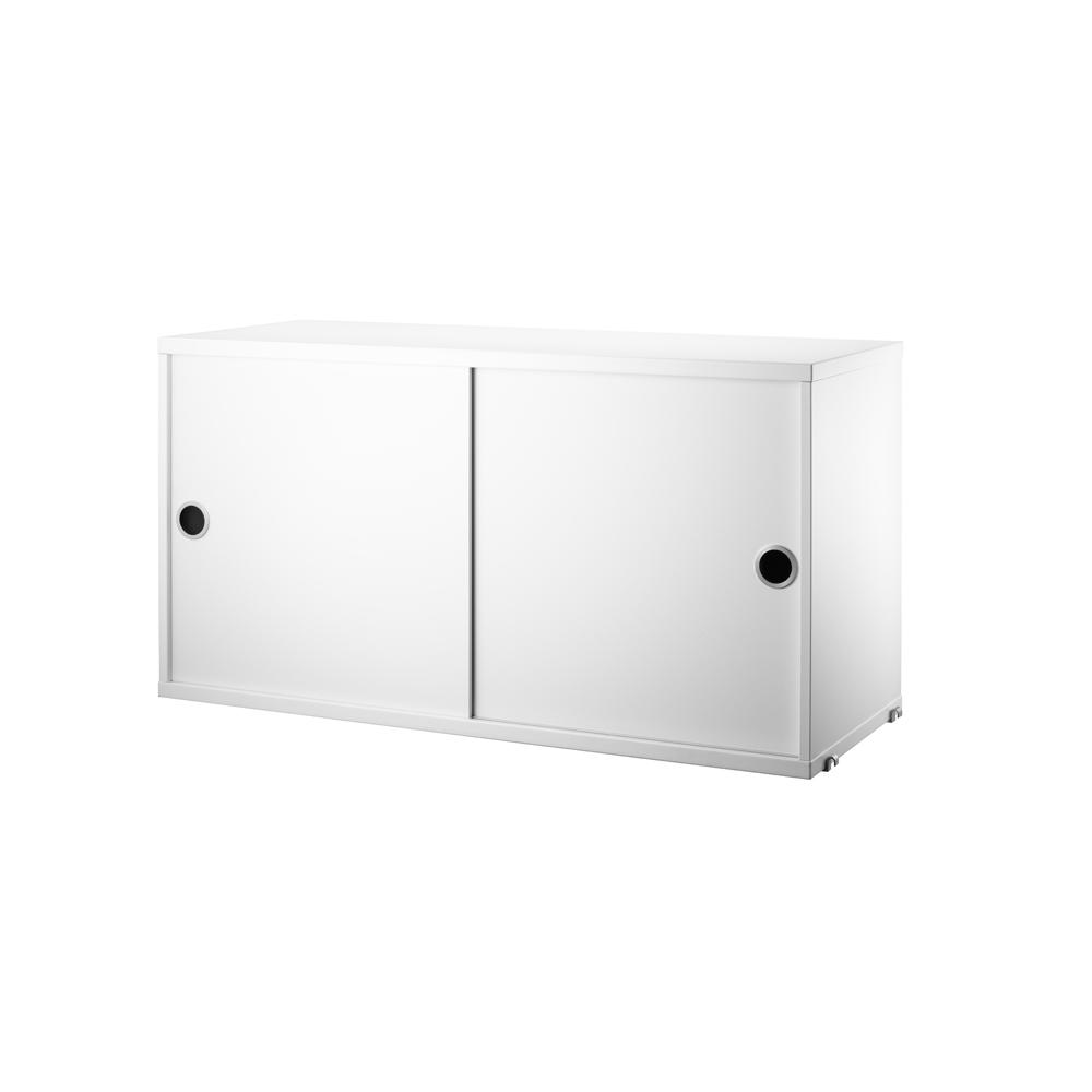 Caisson 2 portes coulissantes 78 cm blanc string pour - Caisson porte coulissante ...