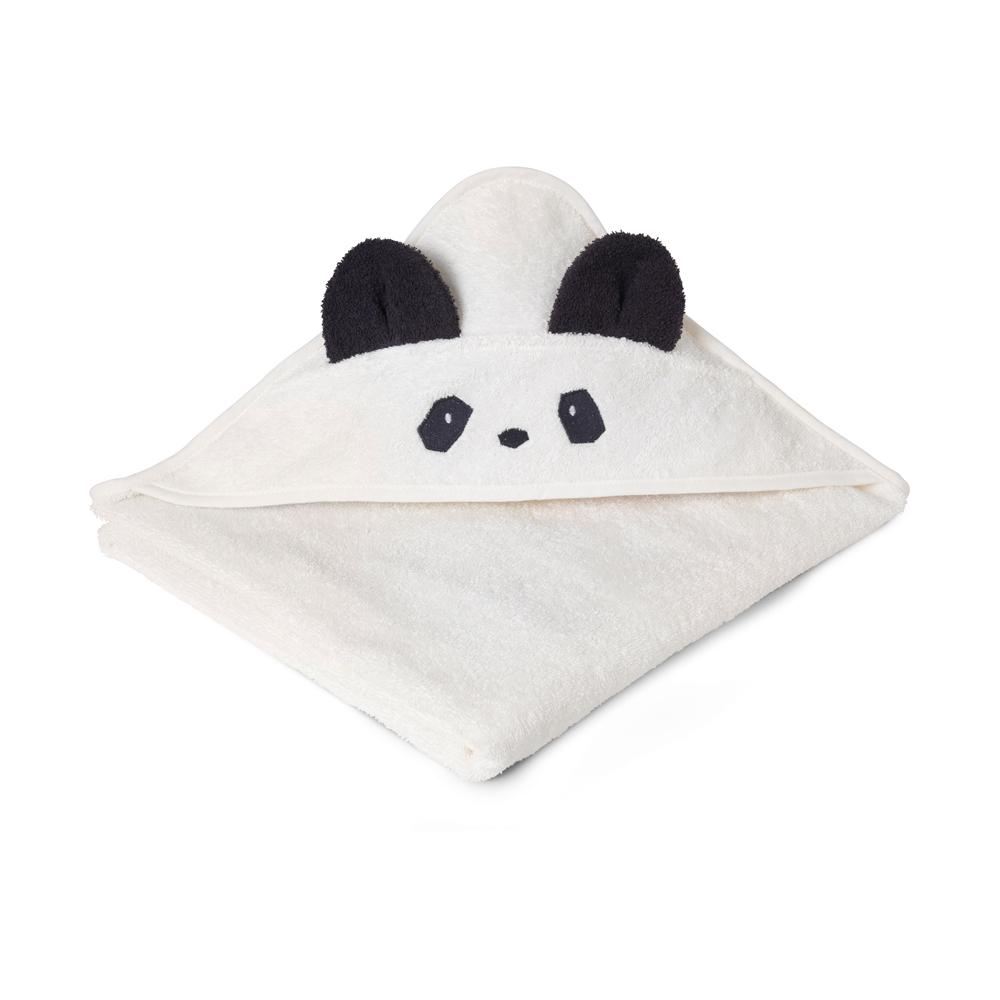cape de bain panda augusta cr me liewood pour chambre enfant les enfants du design. Black Bedroom Furniture Sets. Home Design Ideas