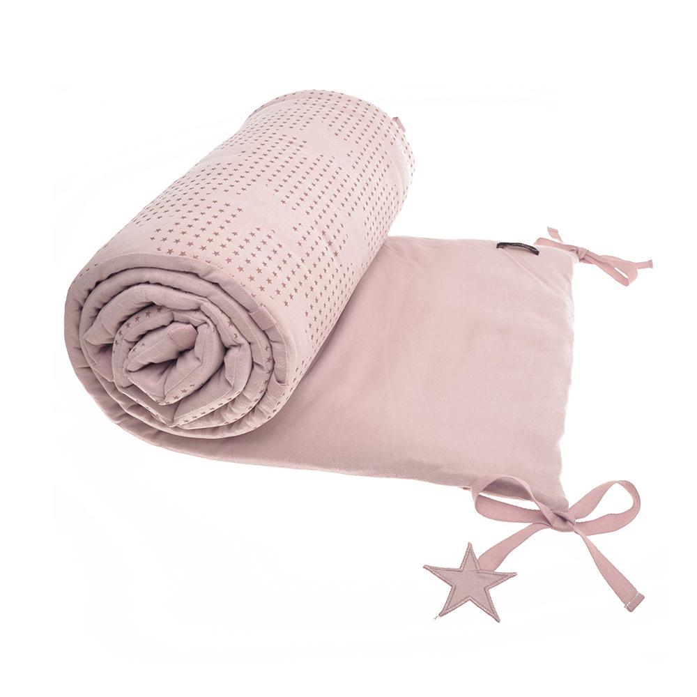 Tour de lit etoiles rose poudr jack n 39 a qu 39 un oeil pour chambre enfant les enfants du design - Tour de lit rose poudre ...