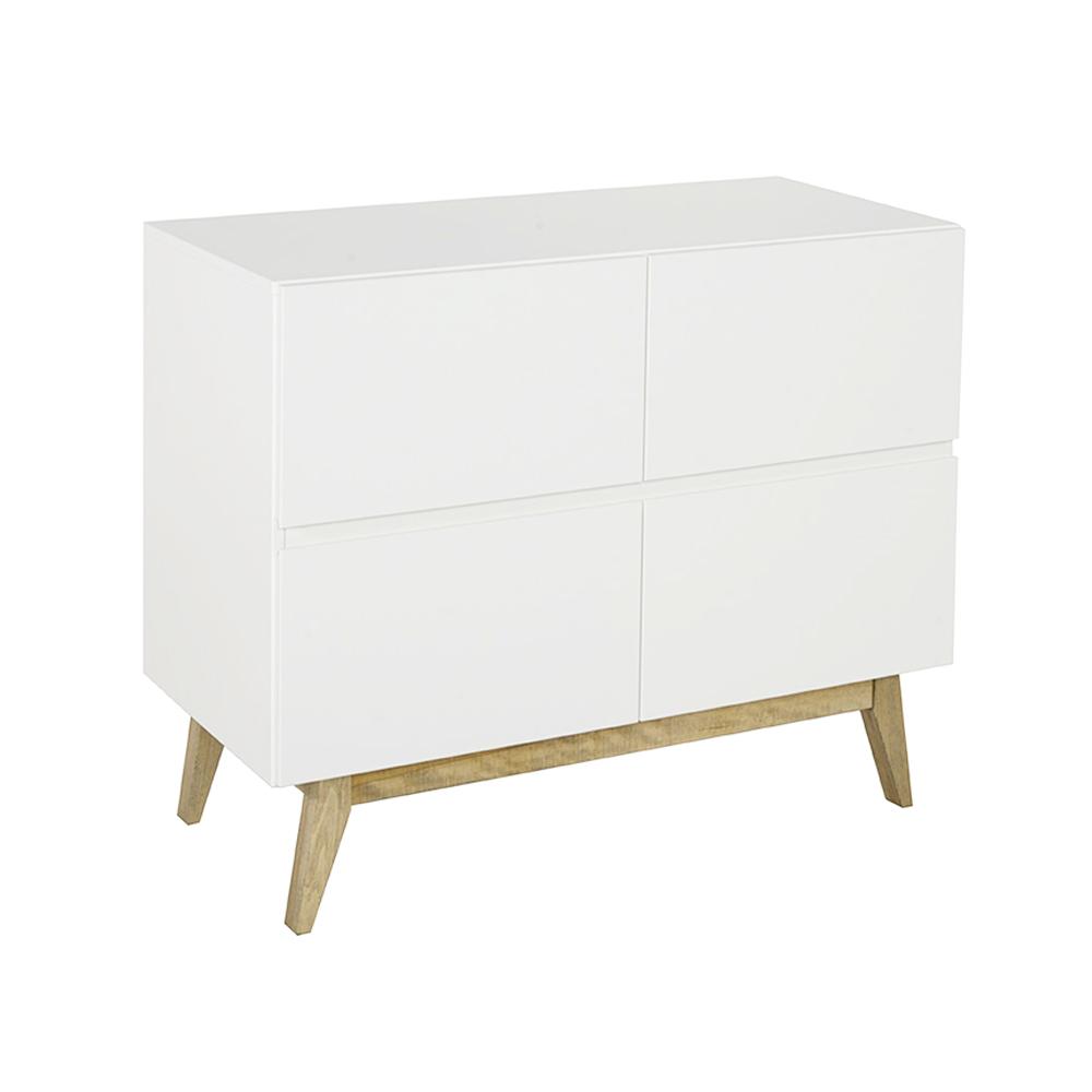 Commode 4 tiroirs trendy blanc quax pour chambre enfant - Commode tiroir blanc ...