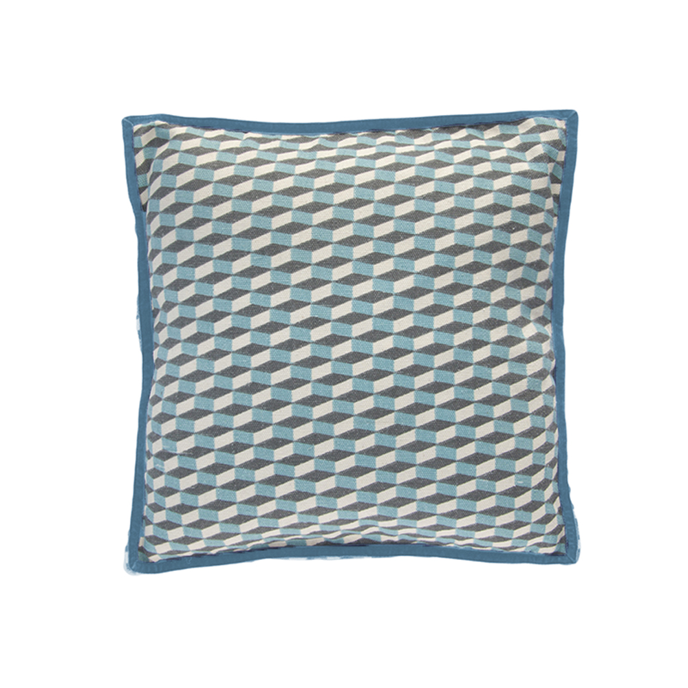 petit coussin bowie bleu gris bakker made with love pour chambre enfant les enfants du design. Black Bedroom Furniture Sets. Home Design Ideas