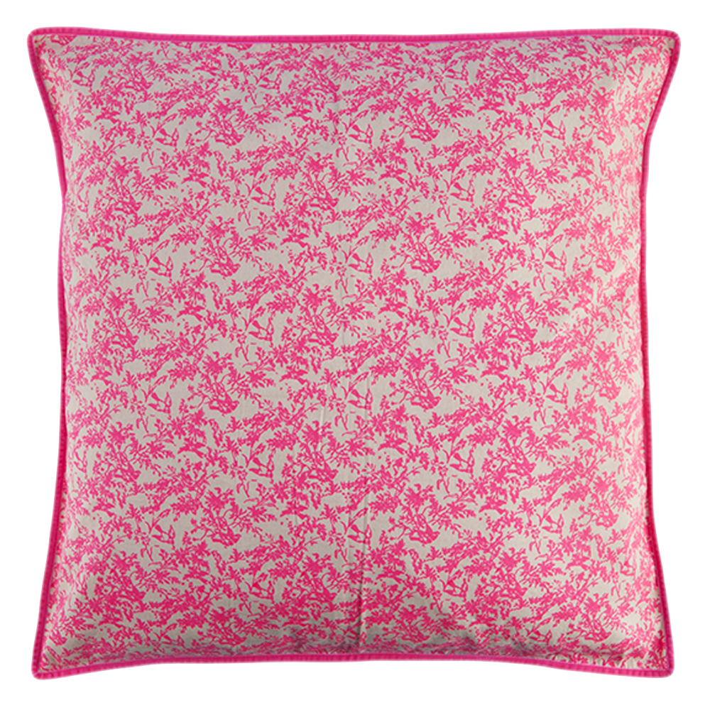 grand coussin jouy rose fluo bakker made with love pour. Black Bedroom Furniture Sets. Home Design Ideas