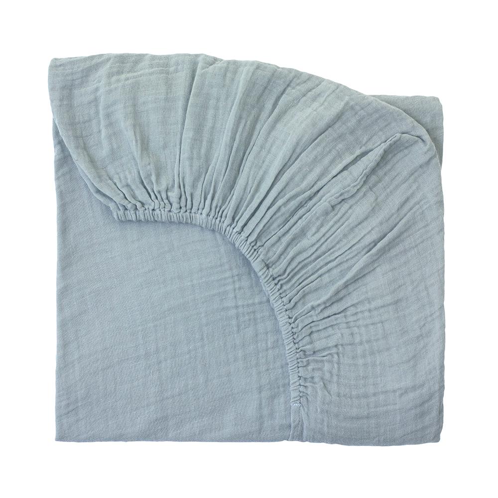 drap housse lit b b bleu clair num ro 74 pour chambre enfant les enfants du design. Black Bedroom Furniture Sets. Home Design Ideas