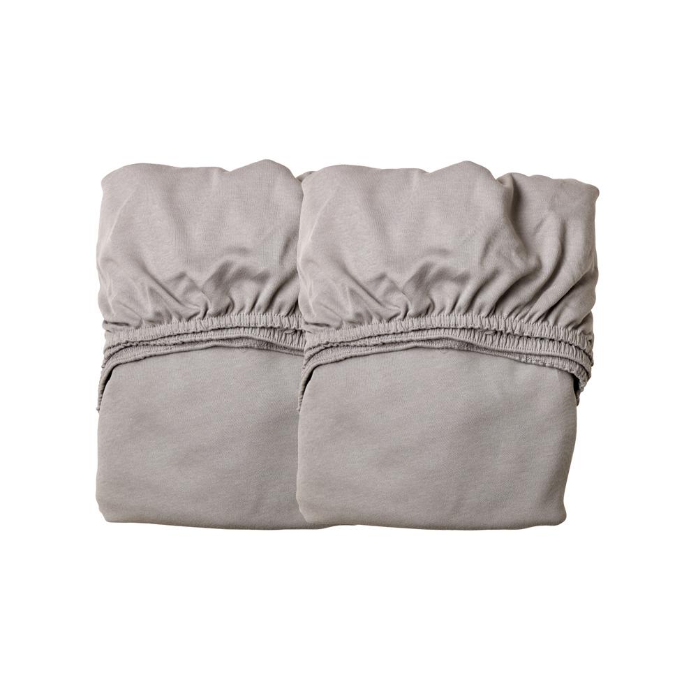 lot de 2 draps housses pour lit b b 60x120cm gris. Black Bedroom Furniture Sets. Home Design Ideas