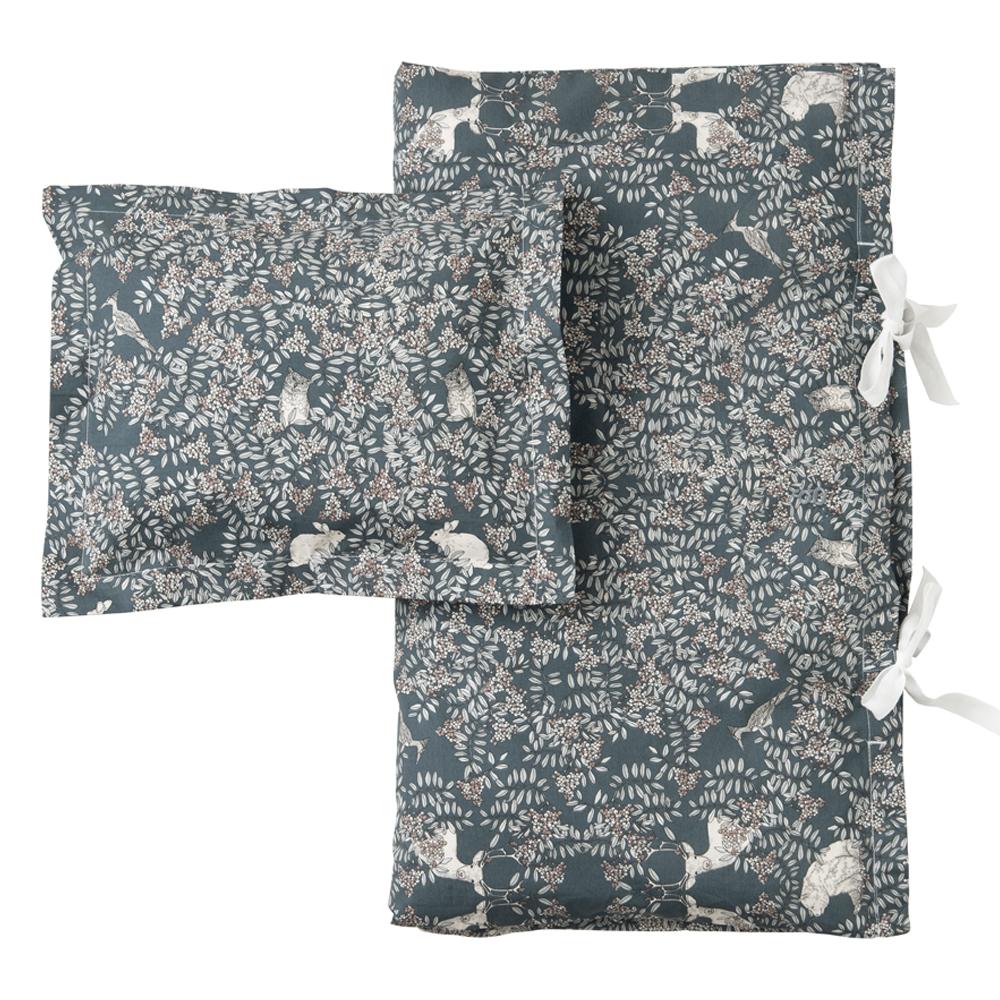 parure de lit fauna vert fonc garbo friends pour. Black Bedroom Furniture Sets. Home Design Ideas