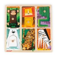 Puzzle Tactile Animaux du Zoo