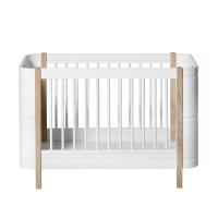 Lit bébé évolutif 5 en 1 Mini+ Wood - Blanc/Chêne