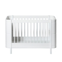 Lit bébé évolutif 5 en 1 Mini+ Wood - Blanc