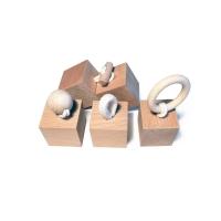 Cubes d'activités en bois bébé Blocks - Naturel/Blanc