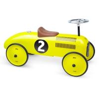 Porteur voiture vintage jaune