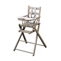 Chaise haute extra pliante Sarah - Laqué gris clair