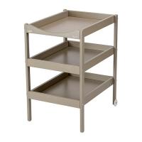 Table à langer Susie - Laqué gris clair