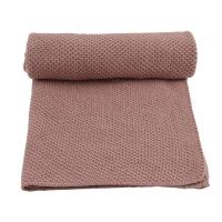 Couverture en tricot New Stitch - Rose fawn
