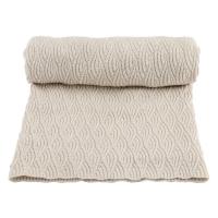 Couverture en tricot Pointelle - Blanc cassé