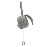 Mobile musical Lapin - Gris chiné