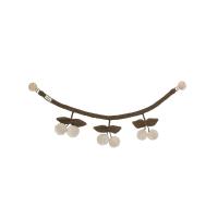 Hochet pour poussette Cerises - Vert chiné/Blanc cassé