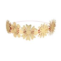 8 couronnes de fleurs - Doré