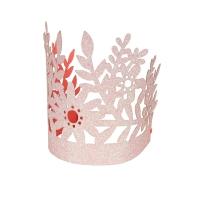 8 couronnes paillettes - Rose