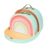 2 valises Arc-en-ciel - Multicolore