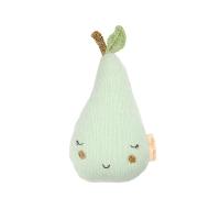 Hochet tricoté poire - Vert pastel