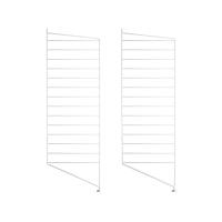 Pack 2 portants muraux au sol 115 x 30 cm - Blanc