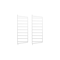 Pack 2 portants muraux 50 x 20 cm - Blanc