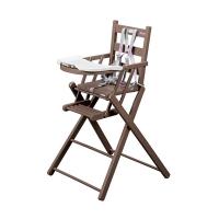 Chaise haute extra pliante Sarah - Laqué taupe