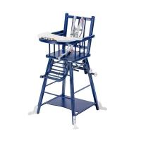 Chaise haute transformable Marcel - Laqué bleu marine