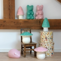 Veilleuse lampe Ours Jelly - Vert opale