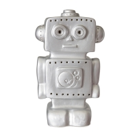 Veilleuse lampe Robot - Argent