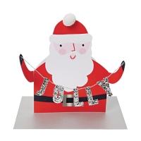 Carte pliante Père Noël - Rouge