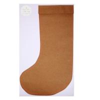 3 grandes chaussettes cadeaux - Brun