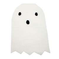 20 grandes serviettes Fantôme - Blanc