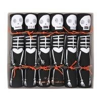 6 crackers surprise Squelettes - Noir