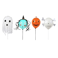 Kit DIY ballons 4 personnages Halloween - Multicolore