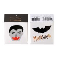 2 planches de tatouages Dracula et Chauve-souris - Multicolore