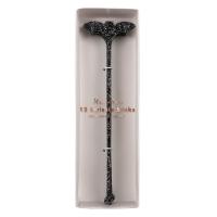 12 bâtonnets chauves-souris pour cocktails - Noir