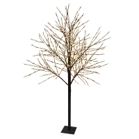 Arbre branches lumineuses LED - Noir/Blanc chaud