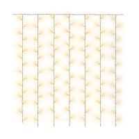 Rideau Cluster fil cuivre LED - Blanc chaud