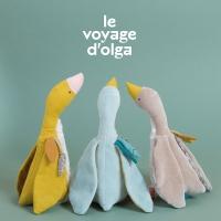 Doudou petite oie grise Fléchette - Le Voyage d'Olga