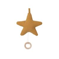 Mobile musical étoile - Moutarde
