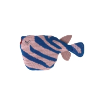 Coussin / peluche Poisson tigre - Rose/Bleu