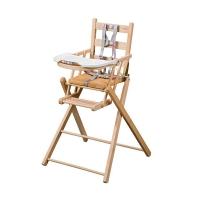 Chaise haute extra pliante Sarah - Vernis naturel