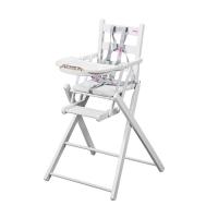 Chaise haute extra pliante Sarah - Laqué blanc