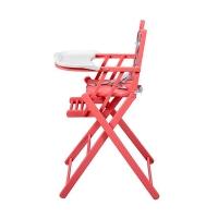 Chaise haute extra pliante Sarah - Laqué rose