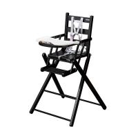 Chaise haute extra pliante Sarah - Laqué noir