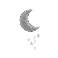 Mobile Lune - Gris/Argent