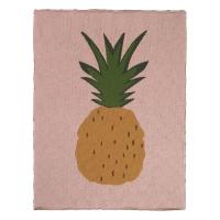 Couverture Ananas - Rose pâle